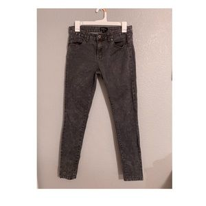 Forever 21 Dark Grey Acid Wash Denim Jeans